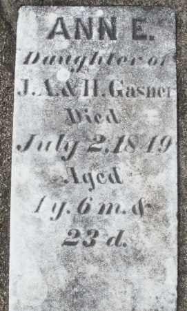 GASNER, ANN E. - Preble County, Ohio | ANN E. GASNER - Ohio Gravestone Photos
