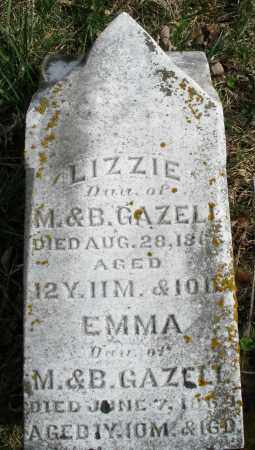 GAZELL, LIZZIE - Preble County, Ohio | LIZZIE GAZELL - Ohio Gravestone Photos