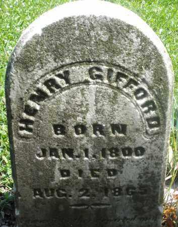 GIFFORD, HENRY - Preble County, Ohio | HENRY GIFFORD - Ohio Gravestone Photos