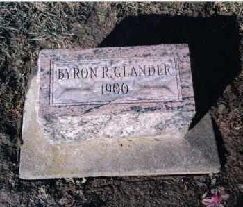 GLANDER, BYRON - Preble County, Ohio   BYRON GLANDER - Ohio Gravestone Photos