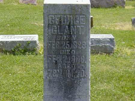 GLANT, GEORGE - Preble County, Ohio   GEORGE GLANT - Ohio Gravestone Photos