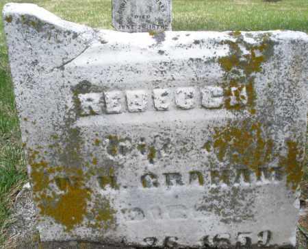 GRAHAM/GRAMAM ?, REBECCA - Preble County, Ohio | REBECCA GRAHAM/GRAMAM ? - Ohio Gravestone Photos