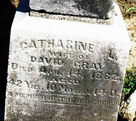 GRAY, CATHARINE L. - Preble County, Ohio | CATHARINE L. GRAY - Ohio Gravestone Photos