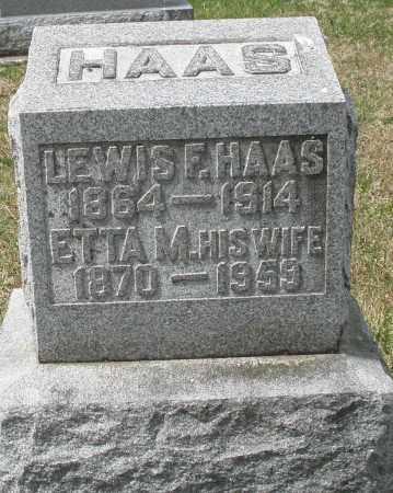HAAS, LEWIS F. - Preble County, Ohio | LEWIS F. HAAS - Ohio Gravestone Photos