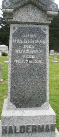 HALDERMAN, JOHN - Preble County, Ohio | JOHN HALDERMAN - Ohio Gravestone Photos