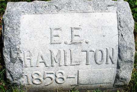HAMILTON, E. E. - Preble County, Ohio   E. E. HAMILTON - Ohio Gravestone Photos