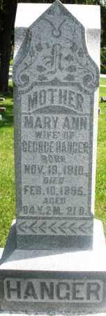HANGER, MARY ANN - Preble County, Ohio   MARY ANN HANGER - Ohio Gravestone Photos