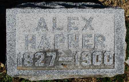 HAPNER, ALEX - Preble County, Ohio   ALEX HAPNER - Ohio Gravestone Photos