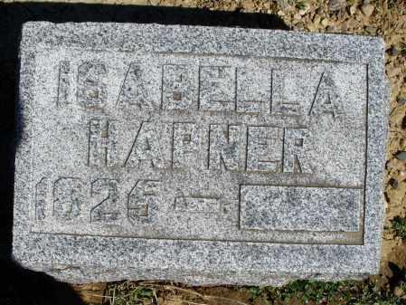 HAPNER, ISABELLA - Preble County, Ohio | ISABELLA HAPNER - Ohio Gravestone Photos
