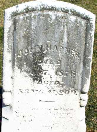 HAPNER, JOHN - Preble County, Ohio | JOHN HAPNER - Ohio Gravestone Photos