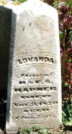 HAPNER, LOVANDA - Preble County, Ohio | LOVANDA HAPNER - Ohio Gravestone Photos