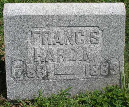 HARDIN, FRANCIS - Preble County, Ohio | FRANCIS HARDIN - Ohio Gravestone Photos