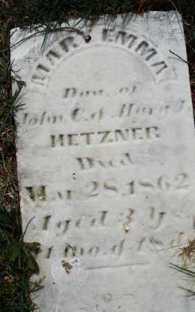 HETZNER, MARY EMMA - Preble County, Ohio | MARY EMMA HETZNER - Ohio Gravestone Photos