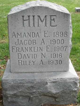 HIME, JACOB A. - Preble County, Ohio | JACOB A. HIME - Ohio Gravestone Photos