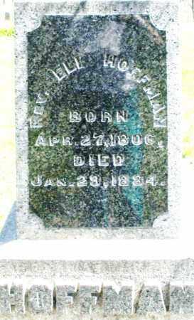 HOFFMAN, ELI, REV. - Preble County, Ohio   ELI, REV. HOFFMAN - Ohio Gravestone Photos