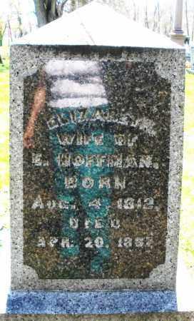 HOFFMAN, ELIZABETH - Preble County, Ohio | ELIZABETH HOFFMAN - Ohio Gravestone Photos