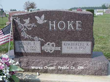 HOKE, DENNIS - Preble County, Ohio | DENNIS HOKE - Ohio Gravestone Photos