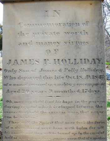 HOLLIDAY, JAMES P. - Preble County, Ohio | JAMES P. HOLLIDAY - Ohio Gravestone Photos