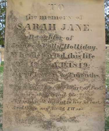 HOLLIDAY, SARAH JANE - Preble County, Ohio | SARAH JANE HOLLIDAY - Ohio Gravestone Photos