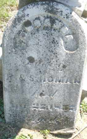 HOMAN, CHILD - Preble County, Ohio | CHILD HOMAN - Ohio Gravestone Photos