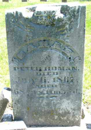 HOMAN, SARAH - Preble County, Ohio   SARAH HOMAN - Ohio Gravestone Photos
