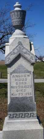 HOUS, ANDREW - Preble County, Ohio | ANDREW HOUS - Ohio Gravestone Photos