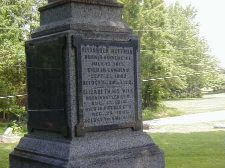 HUFFMAN, ELIZABETH - Preble County, Ohio | ELIZABETH HUFFMAN - Ohio Gravestone Photos