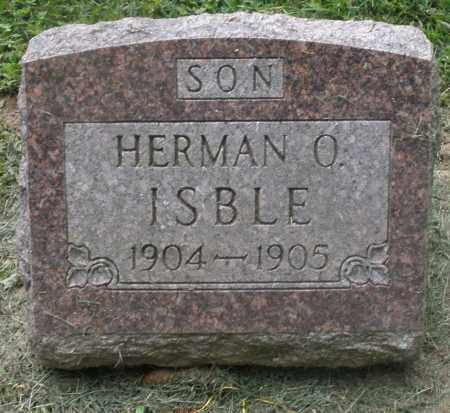 ISBLE, HERMAN O. - Preble County, Ohio | HERMAN O. ISBLE - Ohio Gravestone Photos