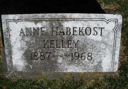 HABEKOST KELLEY, ANNE - Preble County, Ohio | ANNE HABEKOST KELLEY - Ohio Gravestone Photos