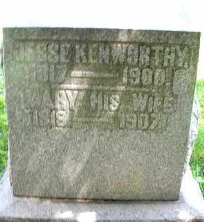 KENWORTHY, JESSE - Preble County, Ohio | JESSE KENWORTHY - Ohio Gravestone Photos