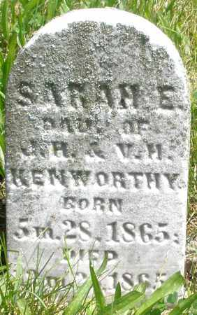KENWORTHY, SARAH E. - Preble County, Ohio | SARAH E. KENWORTHY - Ohio Gravestone Photos