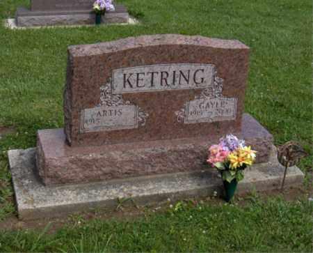 KETRING, ARTIS - Preble County, Ohio   ARTIS KETRING - Ohio Gravestone Photos