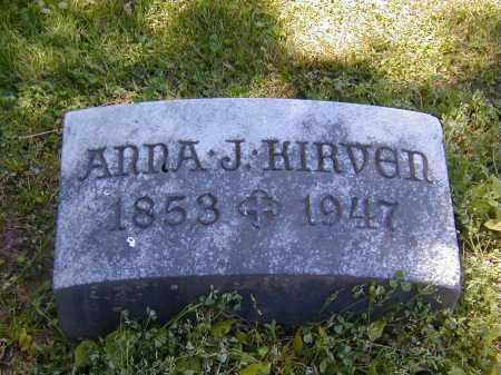 KIRVEN, ANNA J. - Preble County, Ohio | ANNA J. KIRVEN - Ohio Gravestone Photos