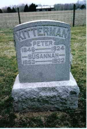KITTERMAN, PETER - Preble County, Ohio | PETER KITTERMAN - Ohio Gravestone Photos