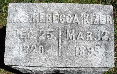 KIZER, REBECCA - Preble County, Ohio | REBECCA KIZER - Ohio Gravestone Photos