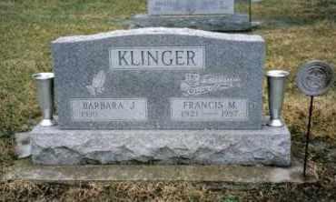 KLINGER, FRANCIS M. - Preble County, Ohio | FRANCIS M. KLINGER - Ohio Gravestone Photos