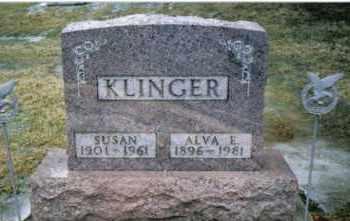 KLINGER, ALVA E. - Preble County, Ohio | ALVA E. KLINGER - Ohio Gravestone Photos