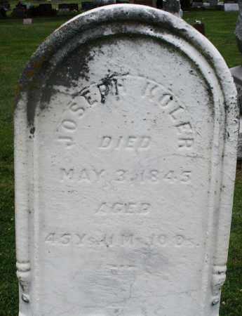 KOLER, JOSEPH - Preble County, Ohio   JOSEPH KOLER - Ohio Gravestone Photos