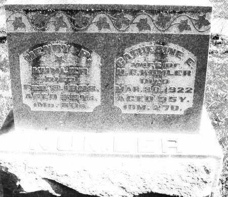 KUMLER, CATHERINE E. - Preble County, Ohio | CATHERINE E. KUMLER - Ohio Gravestone Photos