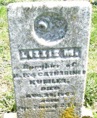 KUMLER, LIZZIE M. - Preble County, Ohio | LIZZIE M. KUMLER - Ohio Gravestone Photos