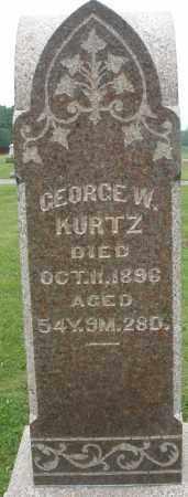 KURTZ, GEORGE W. - Preble County, Ohio | GEORGE W. KURTZ - Ohio Gravestone Photos