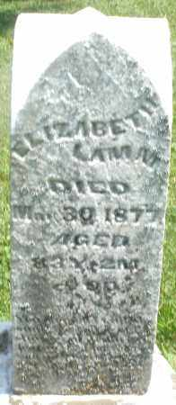 LAMM, ELIZABETH - Preble County, Ohio | ELIZABETH LAMM - Ohio Gravestone Photos