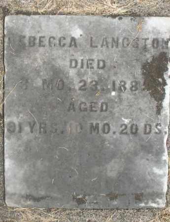 LANGSTON, REBECCA - Preble County, Ohio | REBECCA LANGSTON - Ohio Gravestone Photos