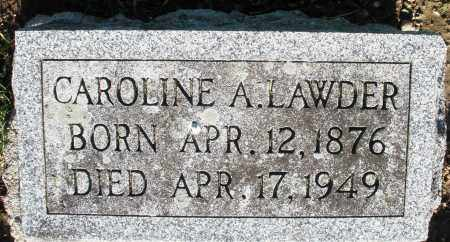 LAWDER, CAROLINE A. - Preble County, Ohio | CAROLINE A. LAWDER - Ohio Gravestone Photos
