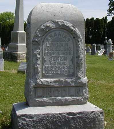 LINCOLN, SARAH - Preble County, Ohio | SARAH LINCOLN - Ohio Gravestone Photos
