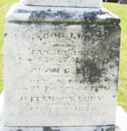 LUDY, JACOB - Preble County, Ohio | JACOB LUDY - Ohio Gravestone Photos