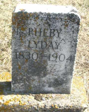 LYDAY, PHEBY - Preble County, Ohio | PHEBY LYDAY - Ohio Gravestone Photos