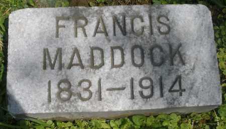 MADDOCK, FRANCIS - Preble County, Ohio   FRANCIS MADDOCK - Ohio Gravestone Photos