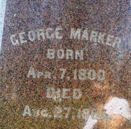 MARKER, GEORGE - Preble County, Ohio   GEORGE MARKER - Ohio Gravestone Photos