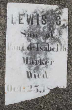 MARKER, LEWIS C. - Preble County, Ohio | LEWIS C. MARKER - Ohio Gravestone Photos